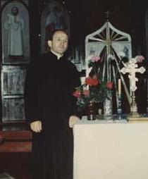 o. Kochan w cerkwi w Ługach