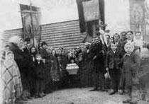 pogrzeb cerkiewnika Andrzeja Śliwy w 1943 r.