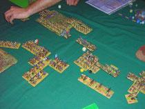Kampf der Infanteriebrigade im Zentrum