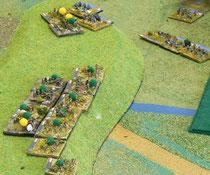 Franzosen greifen den Hügel an