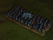 große Infanterieeinheit in taktischer Formation