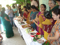 A demonstration on 'Forgotten Foods of the Future' with old recipes using millets for the most part, at 'Green Path' organic store
