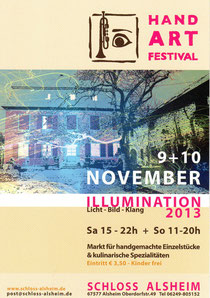 Hand Art Festival III - Illumination - Nov. 2013 Schloss Alsheim
