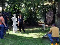 Dreh im Skulpturengarten