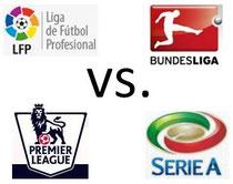 La Liga, Bundesliga, Premier League, Serie Ague