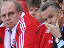 Hitzfeld and Hoeness from FC Bayern Munich during their succesful years  copyright by stern.de