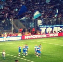 UEFA Europa League FC Dnipro celebrates a goal
