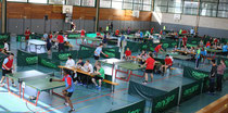 Einer großen Tischtennis-Arena glich die Haßfurter Dreifachturnhalle am Mittwoch. Auf zwölf Platten wurden die mittlerweile 30. unterfränkischen Tischtennis-Meisterschaften der Förderzentren mit Förderschwerpunkt geistige Entwicklung durchgeführt.