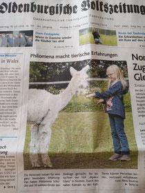 Aus der OV (Oldenburgische Volkszeitung) am 18.7.2019