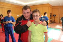 Ryan Winham with Lewis Gemmill