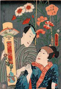 Nadeshiko - estampe de Hiroshige et de Kunisada - Diète du Japon ©