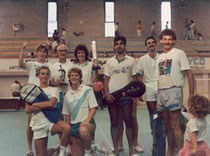 1989 champions of europe - mike brown, mick adams, nitin panesar, brian wallwork, julian preistley, jill wallwork, nicola greenwood, gillian clark, sue brown