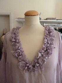 Brautkleid, Hochzeitskleid Seidenchiffon, 20er Jahre Stil