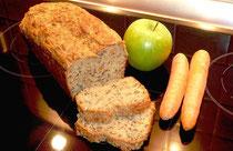 Apfel-Möhren-Mehrkornbrot