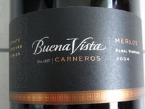 BUENA VISTA MERLOT RAMAL VINEYARD 2004