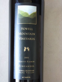 HOWELL MOUNTAIN VINEYARDS ZINFANDEL 2005