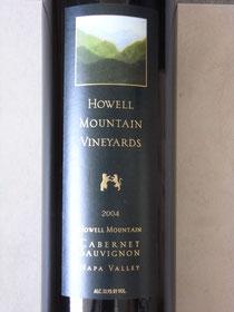 HOWELL MOUNTAIN VINEYARDS CABERNET SAUVIGNON 2004