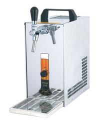 Tragbarer Bierkühler mit Luftpumpe