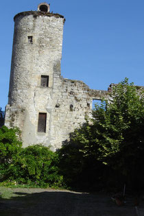 vestiges du château vicomtal