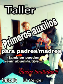 TALLER DE PRIMEROS AUXILIOS PARA PADRES (pueden venir abuel@s,ti@s...)