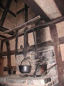 暖炉の前身で調理用の場所です  煙はまだ天井から抜いていました
