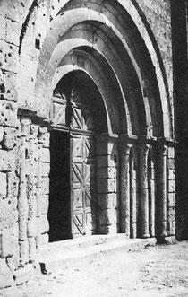 Le portail roman de l'abbatiale