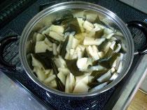 津幡町相窪産タケノコの煮物