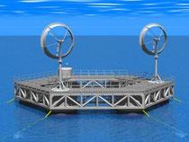 博多湾モデルのイメージ 。画像提供:九州大学洋上風力発電ファーム研究会