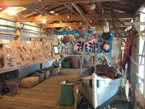 漁労文化を紹介する番屋内部