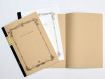 表紙は白と茶色の2種類。書き味はふつうのノートと変わらない。