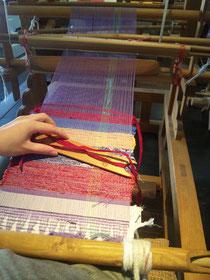 匠工房の裂き織り体験