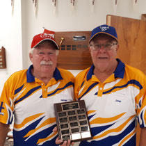 Tournament winners Wayne Wright and Don Caswell.