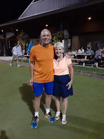 Tournament winners Colin James (L) and Marylou Demers