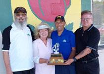 Tournament winners Frank Duransky, Debbie Clark, Iain Clemerson, and Colin Docherty