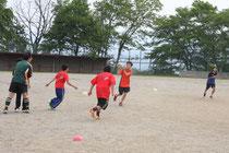 高森ラグビー練習