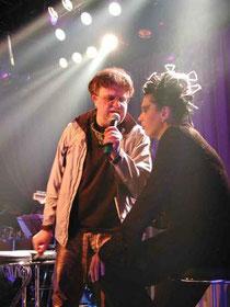 RonnieRocket&GudrunRubini, Rocket-Bar/Szene Wien2001, pic p.Seifert