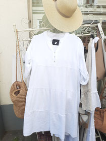 Traumhaftes Minikleid Tunika weiß oder beige 44,90