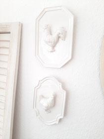 Porzellan Hühnerbilder von Clayre and Eef  14,50 und 17,50