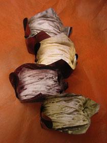 コルリの「季節のモンテビアンコ」たち。特別賞をいただいた「花豆とルバーブのモンブラン」は上から2つめです