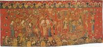 Marienteppich, Freiburg um 1400 (Wolle, Leinen, gewirkt)