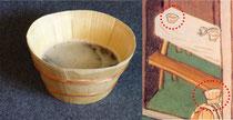 Rekonstruktion einer Daubenschale, Bildausschnitt aus dem Schachzabelbuch: Der Wirt