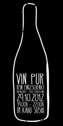 Am Montag den 29.10.2012 stelle ich um 19.00h im Kado Sushi eine auswahl französischer Vins Naturels vor.  Vins Naturels sind feine und charaktervolle Winzer Weine, bio bzw. biodynamisch angebaut, spo
