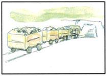 トロッコ列車の敷設