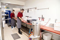 le laboratoire pendant les fabrications