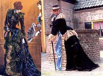Kleid nach Vorlage aus historischem Modejournal (Harpers Bazar, 1897)