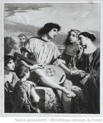 Le trouvère / [d'après] Th. Couture ; [lithogravure de] Baron ; [photogr. de] Bibliothèque nationale de France