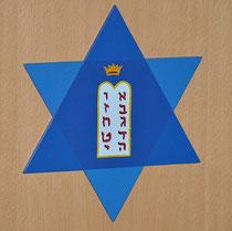 Magen David mit Tafeln des Bundes und Torakrone, Hechinger Synagoge, Foto: Manuel Werner