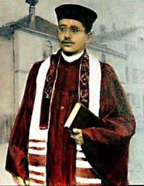 Leon Schmalzbach (1828-1942), Ölgemälde in der Synagoge Hechingen, nach einem Foto von U. Hentsch, alle Rechte vorbehalten!