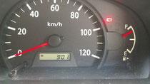 車の距離計