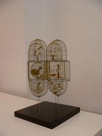Günter Haese, Trinidad3, Skulptur, Messing, 15 x 15 x 30 cm